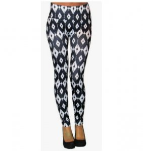 White Triangles Leggings
