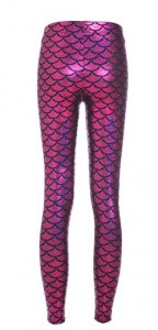 Mermaid Shiny Pink Leggings