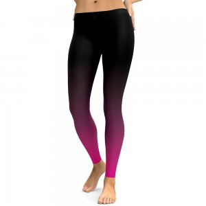Black Purple Leggings