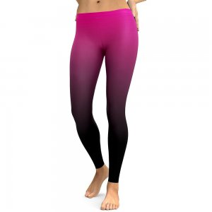 Purple Black Leggings