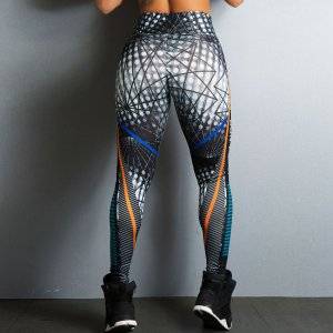 Don't Stop Sport Printed Fitness Yoga Leggings