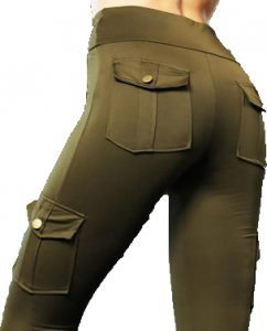 Cargo Leggings with high waist and pockets