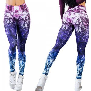 Diamond Sport Printed Fitness Yoga Leggings