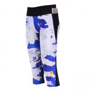 The Map Waist With Side Pocket Phone Capri Pants