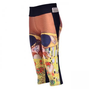 Hot Kiss Papers With Side Pocket Phone Capri Pants
