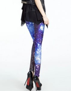 Blue Universe Leggings