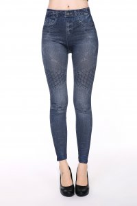 Net Jeans Print Leggings
