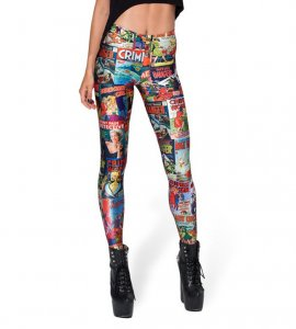 Superheroes Cartoon Leggings