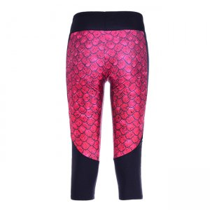Red Dinosaur Eggs High Waist With Side Pocket Phone Capri Pants