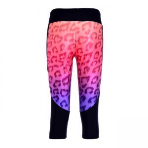 Wild Leopard High Waist With Side Pocket Phone Capri Pants