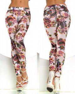 Graffiti Print Hip Leggings