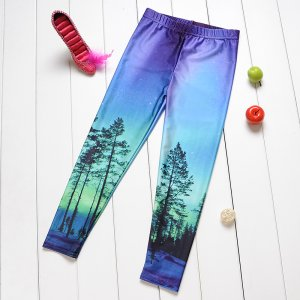 Blue Green Tree Kids Leggings
