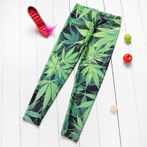 Green Leaves Kids Leggings