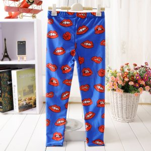 Red Lips Kids Leggings