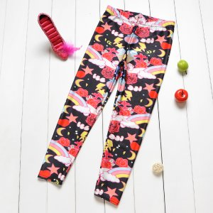 Ice Rose Rainbow Kids Leggings