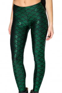 Mermaid Shiny Green Leggings