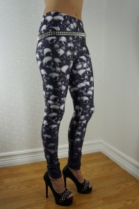 Skulls Black Leggings