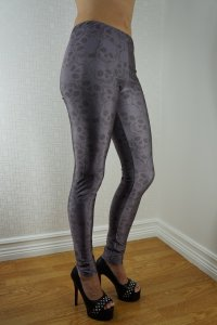 Grey Skulls Leggings