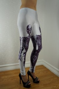 Skeleton White Leggings