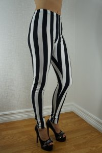 Beetlejuice Black White Leggings