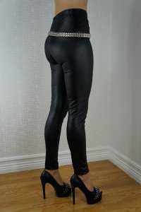 Black Wetlook Leggings