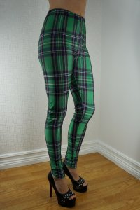 Green Tartan Leggings