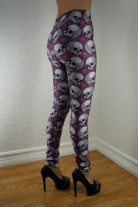 Skull Roses Leggings