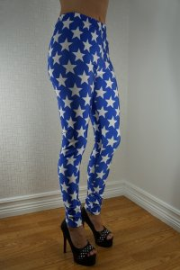 White Star Blue Leggings