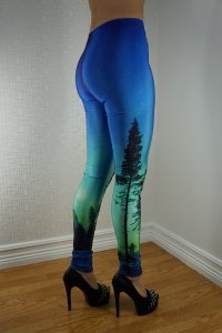 Blue Green Tree Leggings