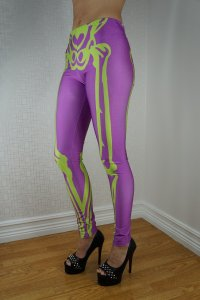 Skeleton Green Purple