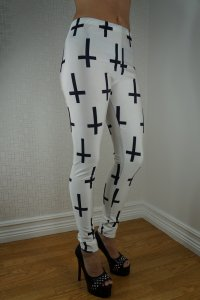 The Black Cross Leggings