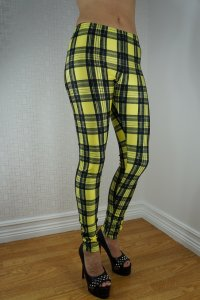 Yellow Tartan Leggings