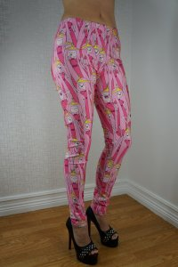 Pink Cartoon Leggings