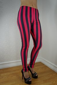 Beetlejuice Black Pink Leggings