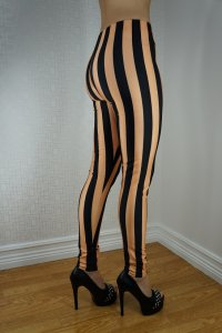 Beetlejuice Black Gold Leggings
