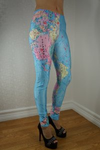 The World map Leggings