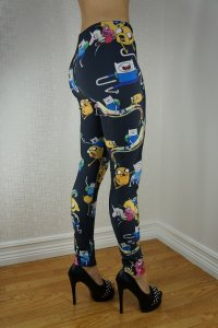 Black Cartoon ADT Leggings