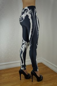 White Skeleton Leggings