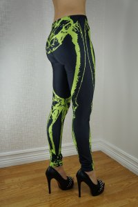 Green Skeleton Leggings
