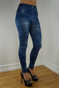 Pattern Jeans Print Leggings