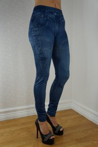 Blu Jeans Print leggings