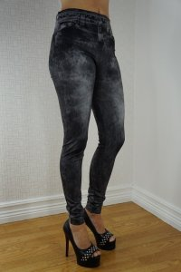 Stylish Black jeans Print Leggings