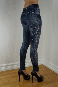 Tattoo art Jeans Print Leggings