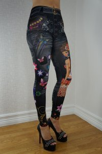 Black Butterfly Girl Leggings