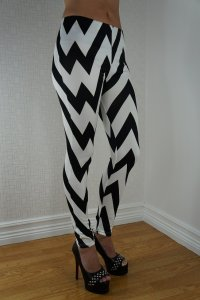 Black White W Leggings