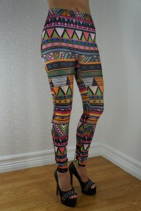 Color Multi Pattern Leggings