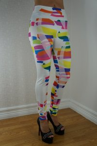 Color Striped Leggings