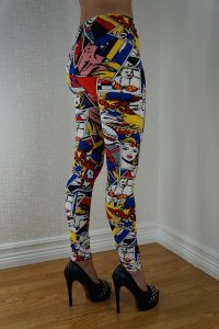 POW Cartoon Leggings