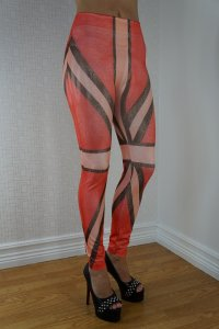 Red With Stripes Leggings