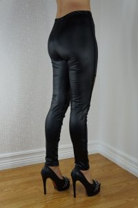 Black Cool Faux Leggings